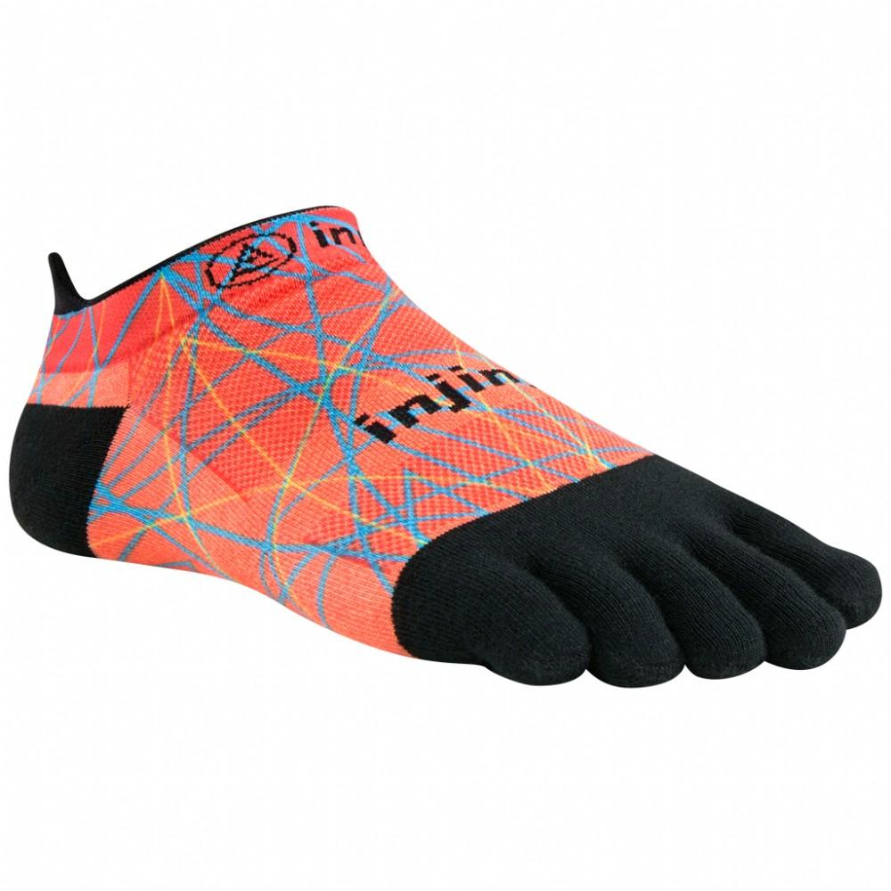 Injinji Spectrum Run Lightweight No-Show Womens Running Socks